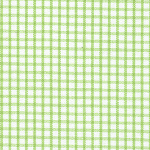 "Lime Green on White Windowpane - 45"" width"